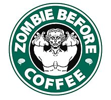 Zombie Before Coffee by bungeecow
