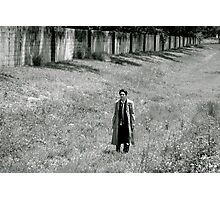 He angel-poofed right into a deserted field Photographic Print