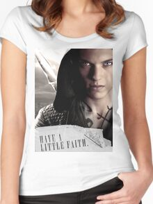 Have a little faith Women's Fitted Scoop T-Shirt