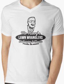 Mr Henry's Lawn Wranglers Mens V-Neck T-Shirt
