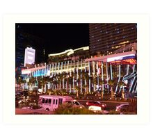 Vegas Strip Nightlife Art Print