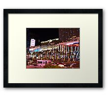 Vegas Strip Nightlife Framed Print