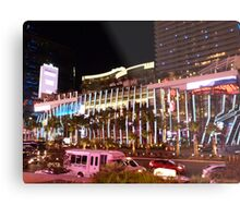Vegas Strip Nightlife Metal Print
