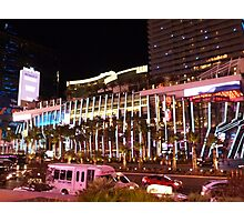Vegas Strip Nightlife Photographic Print