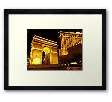 Paris Paris Las Vegas Framed Print