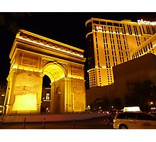Paris Paris Las Vegas Photographic Print
