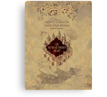 Marauders Map Harry Potter Canvas Print