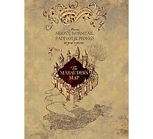 Marauders Map Harry Potter Photographic Print