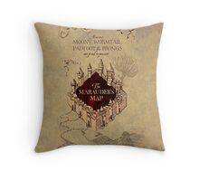 Marauders Map Harry Potter Throw Pillow