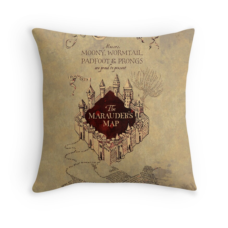 Marauders Map Harry Potter | Throw Pillow