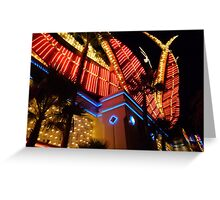 Flamingo Lights Greeting Card