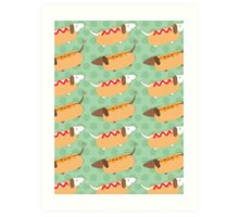 Little Sausages  Art Print