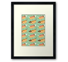 Little Sausages  Framed Print