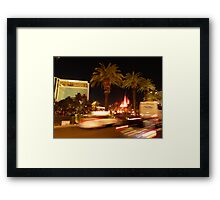 Vegas, The Strip, at Night Framed Print