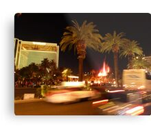 Vegas, The Strip, at Night Metal Print