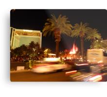 Vegas, The Strip, at Night Metal Print