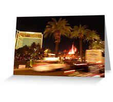 Vegas, The Strip, at Night Greeting Card