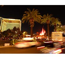 Vegas, The Strip, at Night Photographic Print