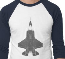 Lockheed F-35B Lightning II (Dark) Men's Baseball ¾ T-Shirt
