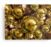 Gold Bubbles Metal Print