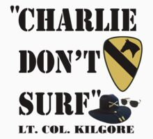 Charlie don't surf by Chivieri Designs