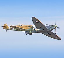 Breaking Left - Duxford Flying Legends 2013 by Colin  Williams Photography
