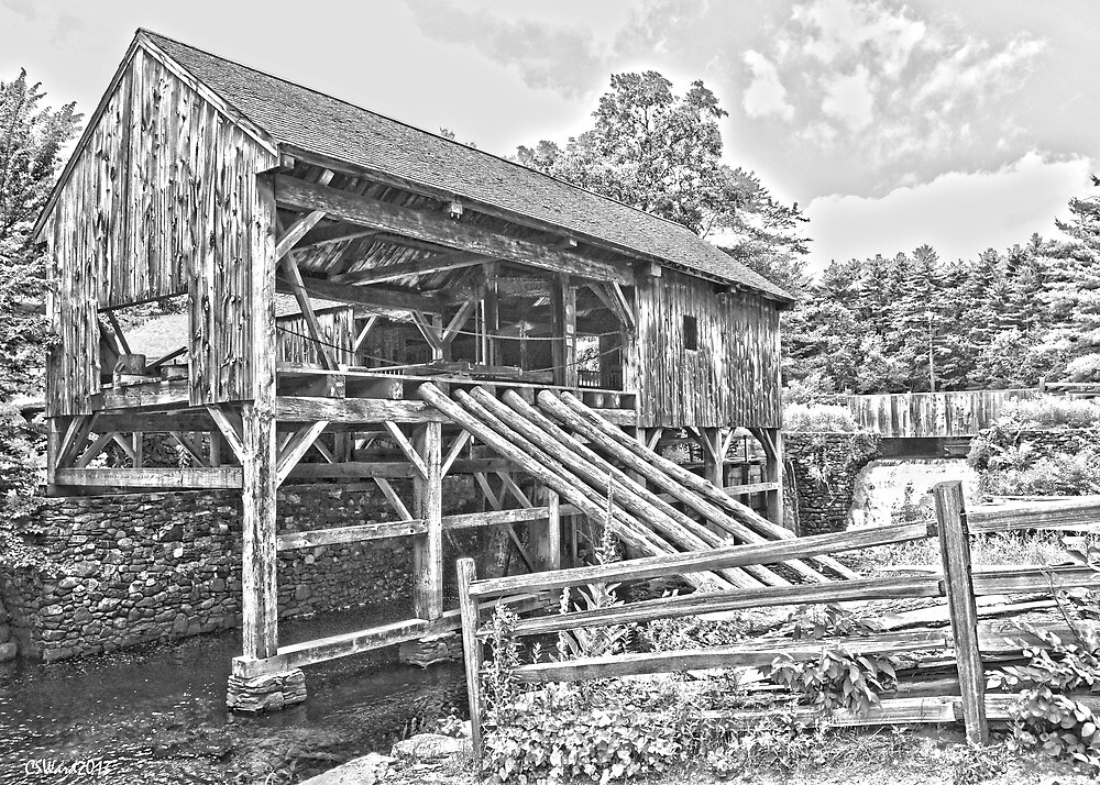 Sturbridge Village Saw Mill by Caleb Ward