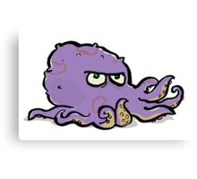 the grumpy octopus Canvas Print