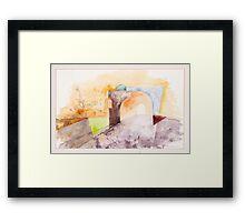 Oxford Arches Study Framed Print