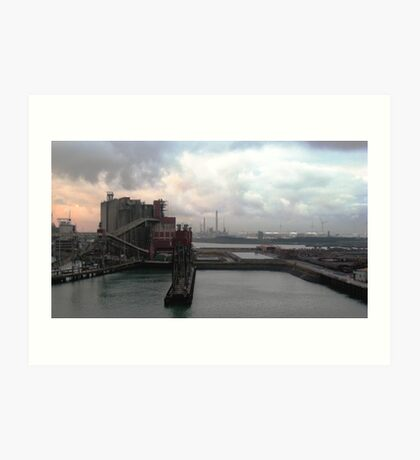 industrial harbour I, rotterdam. Art Print
