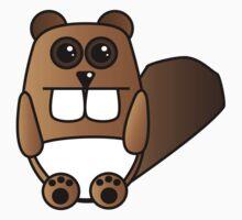 Cute Beaver Kids Tee