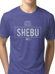 SHEBU Vintage White Tri-blend T-Shirt