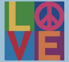 Color Block LOVE=Peace by Lisann