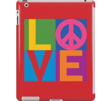 Color Block LOVE=Peace iPad Case/Skin