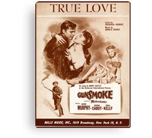TRUE LOVE (vintage illustration) Canvas Print