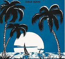 TROPICAL MOONLIGHT (vintage illustration) by ART INSPIRED BY MUSIC