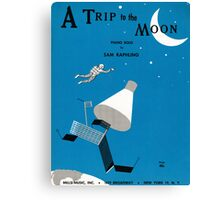 A TRIP TO THE MOON (vintage illustration) Canvas Print