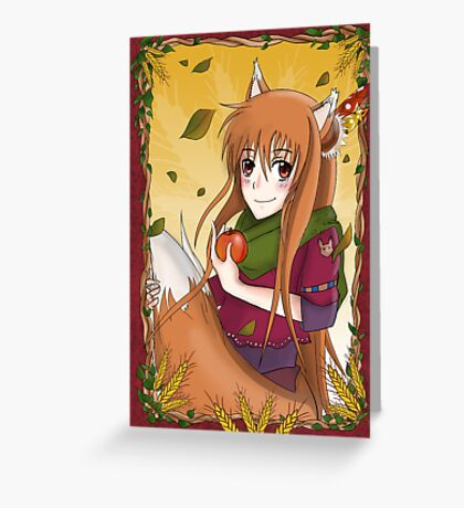 """Horo """"Spice & Wolf"""" Greeting Card"""