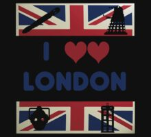 I Love London - Whovian Edition One Piece - Long Sleeve