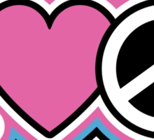 I Love Peace Sticker