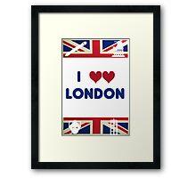 I Love London - Whovian Edition Framed Print
