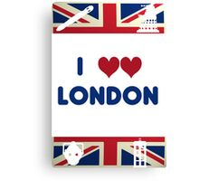 I Love London - Whovian Edition Canvas Print