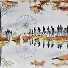 Grande roue - Paris - Watercolor by nicolasjolly