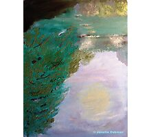Stepping Stones - Reversable Painting - Oil Painting b view Photographic Print