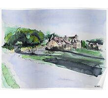 French village - Watercolor Poster