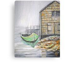 GREEN BOAT Canvas Print