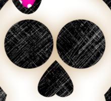 Kawaii Emo Girls Skull and Crossbones Sticker