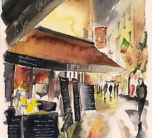 Colorful night - paris - Watercolor by nicolasjolly