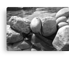 Black and White Watered Rock Canvas Print