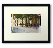 Walking in San Francisco Framed Print
